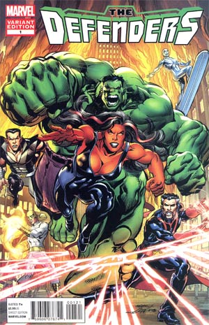 Defenders Vol 4 #1 Incentive Neal Adams Variant Cover (Shattered Heroes Tie-In)