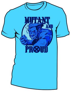Beast Mutant And Proud Turquoise T-Shirt Large