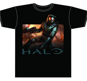 Halo Lone Soldier Black T-Shirt Large