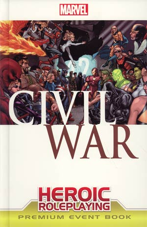 Marvel Heroic Roleplaying Civil War Premium Event Book HC