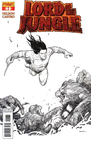 Lord Of The Jungle #1 Incentive Ryan Sook Black & White Cover