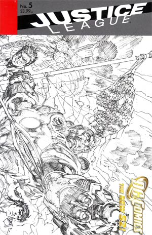 Justice League Vol 2 #5 Incentive Jim Lee Sketch Cover