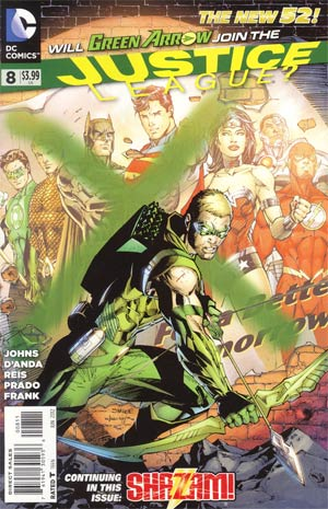 Justice League Vol 2 #8 Regular Jim Lee Cover