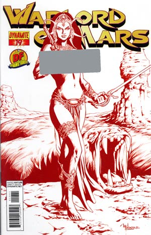 Warlord Of Mars #19 DF Exclusive Risque Red Cover