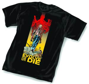 Animal Man Evolve Or Die By Travel Foreman T-Shirt Large
