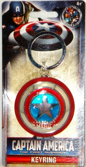 Marvel Pewter Keyring - Captain America Shield
