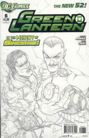 Green Lantern Vol 5 #6 Incentive Doug Mahnke Sketch Cover