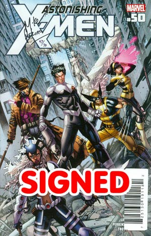 Astonishing X-Men Vol 3 #50 DF Signed By Mike Perkins