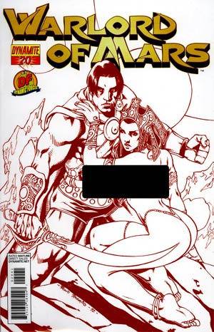 Warlord Of Mars #20 DF Exclusive Risque Red Cover