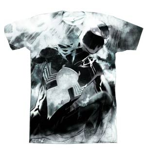 Spider-Man Black Costume Sublimated T-Shirt Large