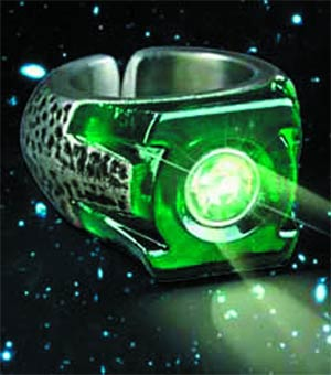 Green Lantern Light-Up Ring