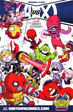 Avengers vs X-Men #1 Midtown Exclusive Skottie Young Wraparound Variant Cover (limit 1 per customer)