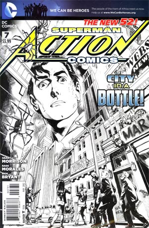 Action Comics Vol 2 #7 Incentive Rags Morales Sketch Cover