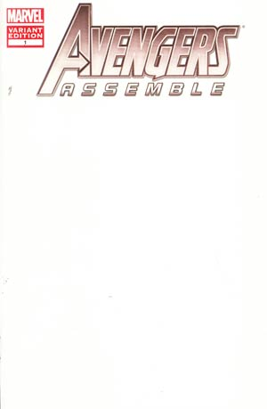 Avengers Assemble #1 Variant Blank Cover
