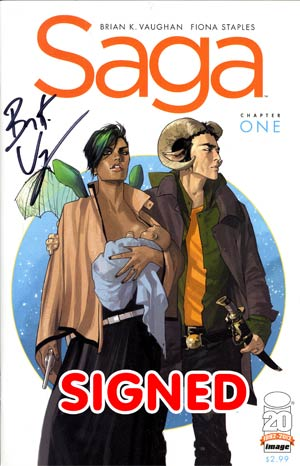 Saga #1 1st Ptg Signed By Brian K Vaughan