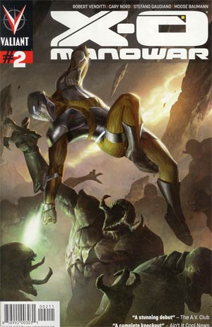 X-O Manowar Vol 3 #2 1st Ptg Regular Jelena Kevic-Djurdjevic Cover