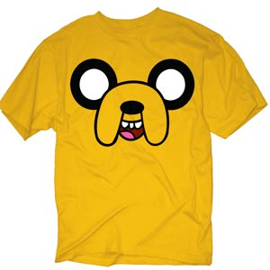 Adventure Time Jake Face Previews Exclusive Yellow T-Shirt Large