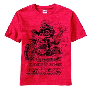 Ghost Rider Death Rider Red T-Shirt Large
