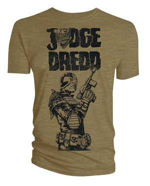 Judge Dredd Khaki T-Shirt Large