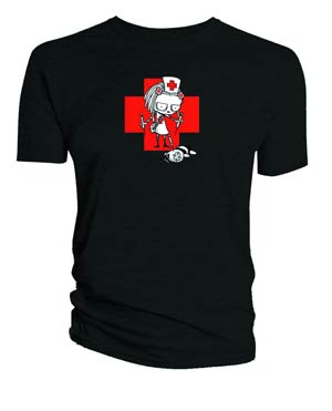 Lenore Nurse Lenore Black T-Shirt Large