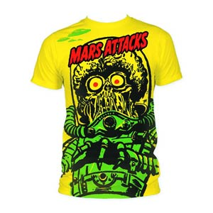 Mars Attacks Big Yellow Martian T-Shirt Large