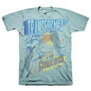 Transformers Grimlock Grey T-Shirt Large