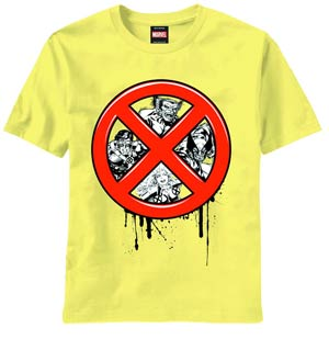 X-Men Ex Men Hiding Yellow T-Shirt Large