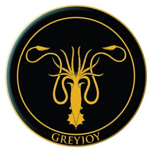 Game Of Thrones Embroidered Patch - Greyjoy