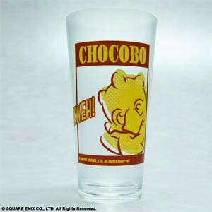Final Fantasy Clear Tumbler - Chocobo