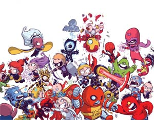 Avengers vs X-Men By Skottie Young Poster