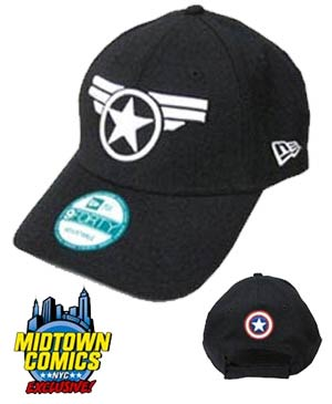 Captain America Symbol Good Ol Steve Official Navy Midtown Exclusive Adjustable Cap