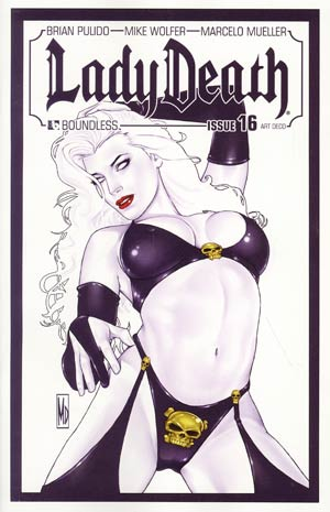 Lady Death Vol 3 #16 Incentive Art Deco Variant Cover