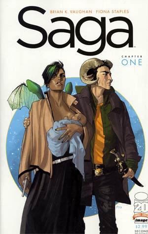 Saga #1 2nd Ptg Variant Cover