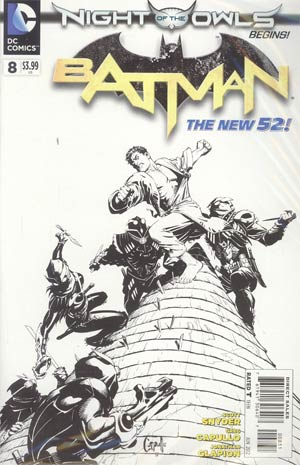Batman Vol 2 #8 Incentive Greg Capullo Sketch Cover