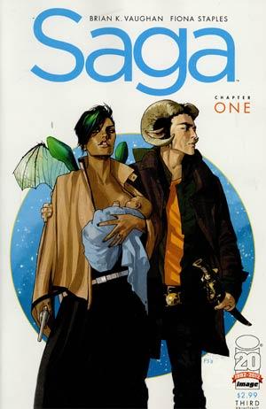Saga #1 3rd Ptg Variant Cover
