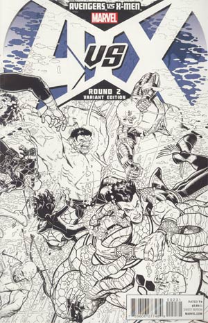 Avengers vs X-Men #2 Incentive Nick Bradshaw Sketch Cover