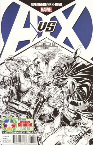 Avengers vs X-Men #2 Variant DCD Summit 2012 Sketch Cover (limit 1 per customer)