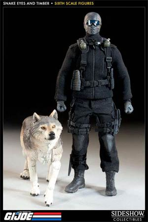 GI Joe Snake Eyes And Timber 1/6 Scale Figure