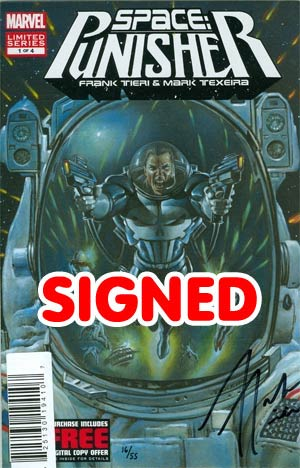 Space Punisher #1 DF Signed By Frank Tieri