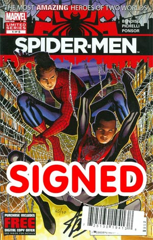 Spider-Men #1 Cover F DF Signed By Stan Lee