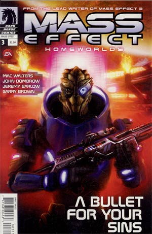 Mass Effect Homeworlds #3 Regular Anthony Palumbo Cover