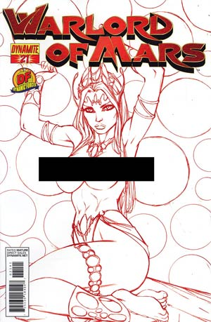 Warlord Of Mars #21 DF Exclusive Martian Red Risque Cover