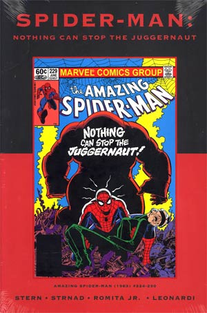 Spider-Man Nothing Can Stop The Juggernaut HC Premiere Edition Direct Market Cover