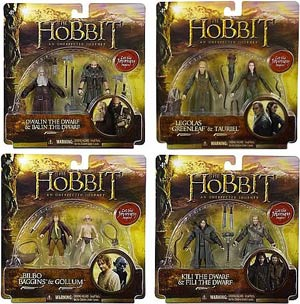 Hobbit 3-3/4 Inch Action Figure Adventure 2-Pack Assortment Case