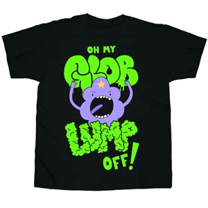 Adventure Time Oh My Glob Lump Off Black T-Shirt Large