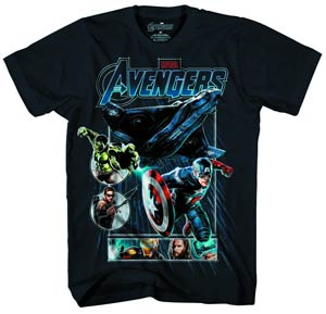 Avengers Drop Ship Navy T-Shirt Large