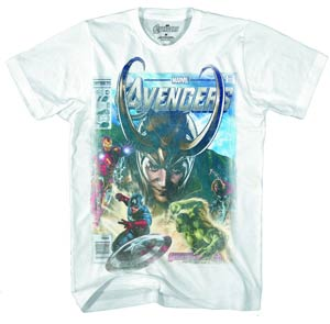 Avengers Pulp Heroes White T-Shirt Large