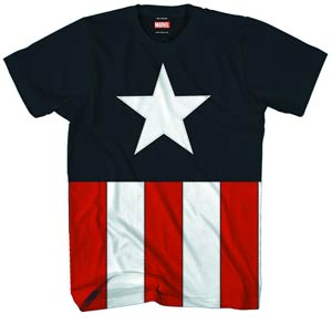 Captain America Tee Caps Navy T-Shirt Large
