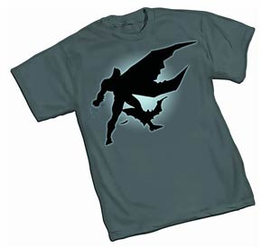 Dark Knight Silhouette By Frank Miller T-Shirt Large