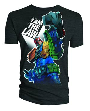 Judge Dredd I Am The Law Black T-Shirt Large